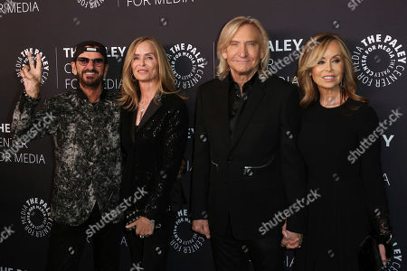Ringo Starr, Barbara Bach, Joe Walsh, Marjorie Bach. Sir Ringo Starr, from left, Barbara Bach, Joe Walsh and Marjorie Bach arrive at the 'Paley Honors in Hollywood: A Gala Tribute to Music on Television' event at The Beverly Wilshire, in Beverly Hills, Calif