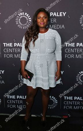 Deborah Joy Winans arrives at the 'Paley Honors in Hollywood: A Gala Tribute to Music on Television' event at The Beverly Wilshire, in Beverly Hills, Calif