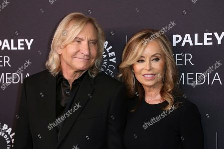 Joe Walsh, Marjorie Bach. Joe Walsh, left, and Marjorie Bach arrive at the 'Paley Honors in Hollywood: A Gala Tribute to Music on Television' event at The Beverly Wilshire, in Beverly Hills, Calif