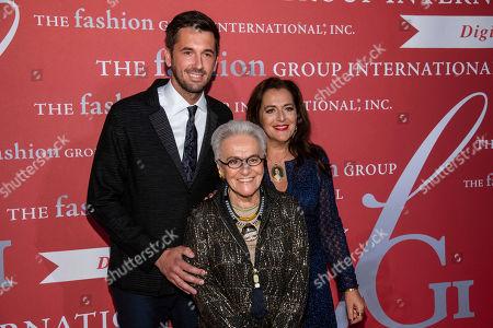 "Ottavio Missoni, Rosita Missoni, Angela Missoni. Ottavio Missoni, left, Rosita Missoni and Angela Missoni attend the Fashion Group International's annual ""Night of Stars"" gala at Cipriani Wall Street, in New York"