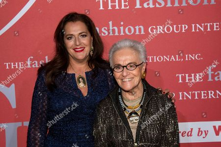 "Angela Missoni, Rosita Missoni. Angela Missoni and Rosita Missoni attend the Fashion Group International's annual ""Night of Stars"" gala at Cipriani Wall Street, in New York"