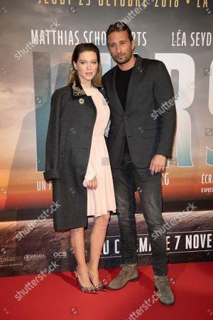Stock Photo of Lea Seydoux and Thomas Vinterberg