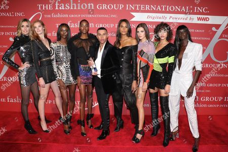Nadja Bender, Alexina Graham, Riley Montana, Tami Williams, Olivier Rousteing, Cindy Bruna, Valery Kaufman, Alanna Arrington, and Duckie Thot