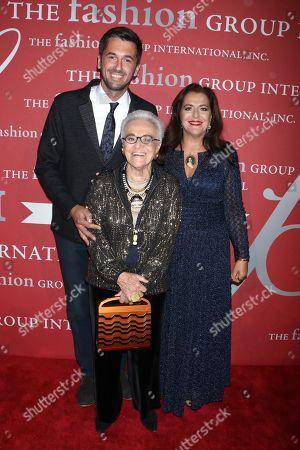 Stock Picture of Ottavio Missoni Jr, Rosita Missoni and Angela Missoni