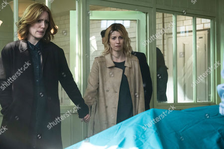 Clare Foster as Alexandra Panousis and Claire Goose as Phoebe Kyrkiacou.