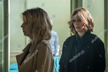 Claire Goose as Phoebe Kyrkiacou and Clare Foster as Alexandra Panousis.