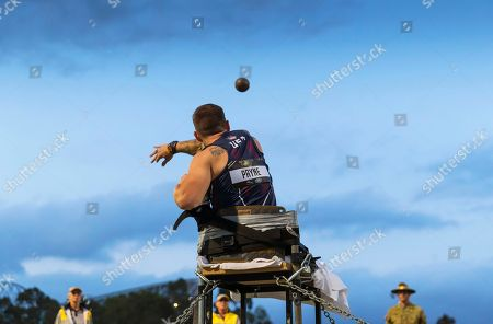 Tim Payne of the USA competes in the Shot Put final during the Athletics events at the 2018 Invictus Games in Sydney, Australia, 26 October 2018. The Sydney Invictus Games, at which wounded or sick armed services personnel and veterans will compete, will take place until 27 October 2018.