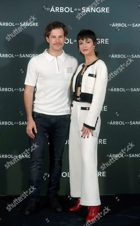 Ursula Corbero (R) and Alvaro Cervantes pose during the presentation of the film 'Arbol de la Sangre' (The Tree of Blood) in Madrid, Spain, 26 October 2018. The movie will premiere on 02 November.