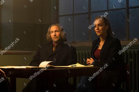 Paul Kaye as Jim Duggan and Miranda Raison as Sylvie.