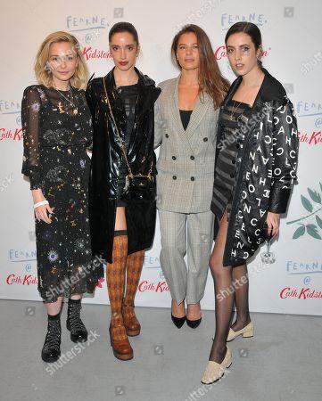 Stock Photo of Sophie Simnett, Kesia Magner, guest and Jemima Magner