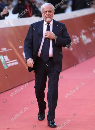 Aurelio De Laurentiis arrives for the screening of 'La Grande Guerra' at the 13th annual Rome Film Festival, in Rome, Italy, 26 October 2018. The film festival runs from 18 to 28 October.