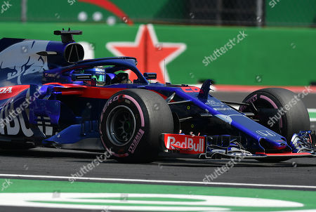 New Zealander Brendon Hartley of Toro Rosso during the second practice session, prior to the Formula One Grand Prix, held at the Hermanos Rodríguez Racetrack, in Mexico City, Mexico, 26 October 2018. The Formula One Grand Prix of Mexico takes place on 28 October 2018.