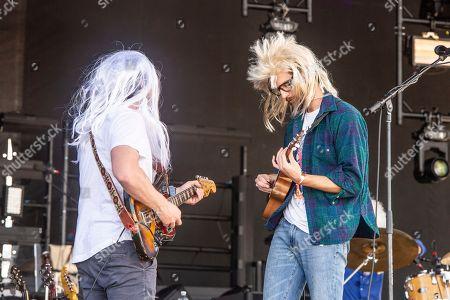Sam Cooper, Matt Quinn. Sam Cooper, left, and Matt Quinn of Mt. Joy perform at the Voodoo Music Experience in City Park, in New Orleans