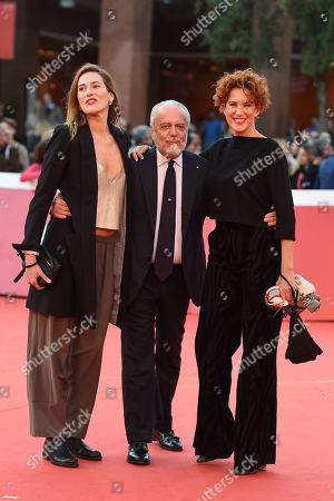 Lucrezia Lante Della Rovere with Ilaria Genatiempo and Aurelio De Laurentis