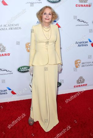 Stock Picture of Sarah Miles arrives at the 2018 BAFTA Los Angeles Britannia Awards at the Beverly Hilton on in Beverly Hills, Calif