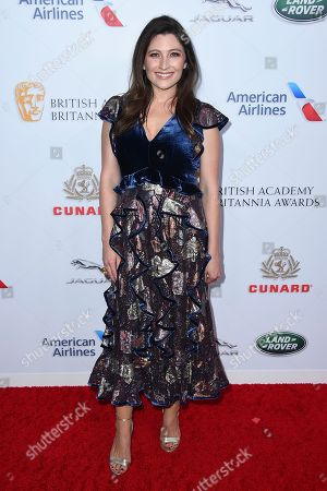 Taylor Treadwell arrives at the 2018 BAFTA Los Angeles Britannia Awards at the Beverly Hilton on in Beverly Hills, Calif