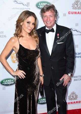 Lisa Locicero, Nigel Lythgoe. Lisa Locicero and Nigel Lythgoe arrive at the 2018 BAFTA Los Angeles Britannia Awards at the Beverly Hilton on in Beverly Hills, Calif
