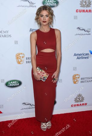 Marah Fairclough arrives at the 2018 BAFTA Los Angeles Britannia Awards at the Beverly Hilton on in Beverly Hills, Calif