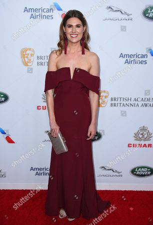 Stock Image of Charlotte Rothwell arrives at the 2018 BAFTA Los Angeles Britannia Awards at the Beverly Hilton on in Beverly Hills, Calif