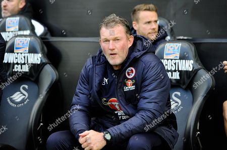 Reading goalkeeping coach Dave Beasant during the EFL Sky Bet Championship match between Swansea City and Reading at the Liberty Stadium, Swansea