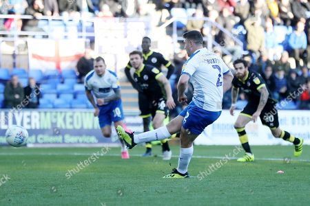 Adam Buxton of Tranmere Rovers scores the 4th goal