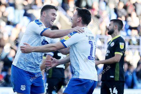 Adam Buxton of Tranmere Rovers celebrates scoring the 4th goal