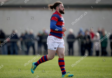 Shannon vs Clontarf. Clontarf's Michael McGrath leaves the pitch after receiving a yellow card