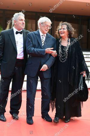 Raffaele Pisu with Paolo Rossi Pisu and Claudia Cardinale