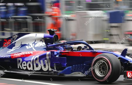New Zealander pilot Brendon Hartley, of Toro Rosso, during the third free practice of the Formula One Grand Prix, at the Hermanos Rodriguez racetrack in Mexico City, Mexico, 27 October 2018. The Formula One Grand Prix of Mexico takes place on 28 October 2018.