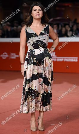Stock Photo of Geppi Cucciari arrives for the premiere of 'Notti magiche' at the 13th annual Rome Film Festival, in Rome, Italy, 27 October 2018. The film festival runs from 18 to 28 October.