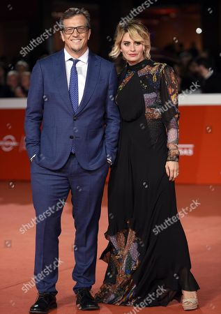 Gabriele Muccino (L) poses with his wife Angelica Russo as they arrive for the premiere of 'Notti magiche' at the 13th annual Rome Film Festival, in Rome, Italy, 27 October 2018. The film festival runs from 18 to 28 October.