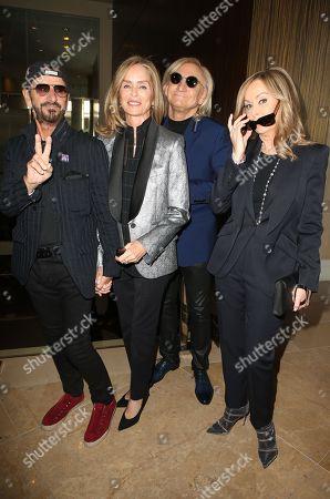 Ringo Starr, Barbara Bach Starkey, Joe Walsh and Marjorie Bach Walsh