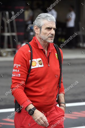 Ferrari Team Principal Maurizio Arrivabene is pictured in the pits during the qualifying session during the Formula One Grand Prix, at the Hermanos Rodriguez racetrack in Mexico City, Mexico, 27 October 2018. The Formula One Grand Prix of Mexico takes place on 28 October 2018.