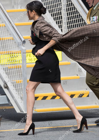 Meghan Duchess of Sussex arrives in Wellington airport, New Zealand, where she met New Zealand Invictus Games competitors, on day thirteen of their Royal Tour