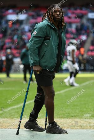 The injured Philadelphia Eagles running back Jay Ajayi  (26)