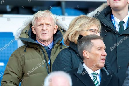 Former Celtic and Scotland manager Gordon Strachan in the stand before the Betfred League Cup semi-final match between Heart of Midlothian FC and Celtic FC at the BT Murrayfield Stadium, Edinburgh