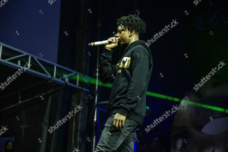 Stock Photo of 21 Savage, Shayaa Bin Abraham-Joseph. 21 Savage performs at the Voodoo Music Experience in City Park, in New Orleans