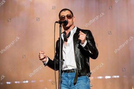 Alex Turner of Arctic Monkeys performs at the Voodoo Music Experience in City Park, in New Orleans