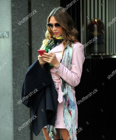 Editorial image of Ludmilla Radchenko out and about, Milan, Italy - 26 Oct 2018