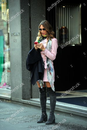 Editorial photo of Ludmilla Radchenko out and about, Milan, Italy - 26 Oct 2018