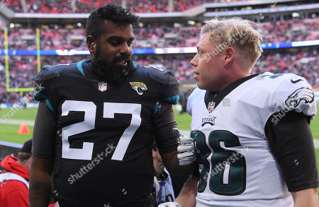 Romesh Ranganathan and Rob Beckett turn their hands to American football during the half time break and being cheered on by a capacity crowd at Wembley Stadium. Dropping several passes and celebrating touchdowns. Scenes were being filmed for their new show.  Pic: David Fisher/REX/Shutterstock