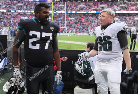 Editorial picture of Philadelphia Eagles v Jacksonville Jaguars, NFL London Game, Wembley Stadium, London, UK - 28 Oct 2018