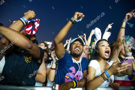Stock Image of 21 Savage, Shayaa Bin Abraham-Joseph. Festival goers attend the Voodoo Music Experience in City Park, in New Orleans