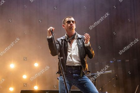 Stock Picture of Alex Turner of Arctic Monkeys performs at the Voodoo Music Experience in City Park, in New Orleans