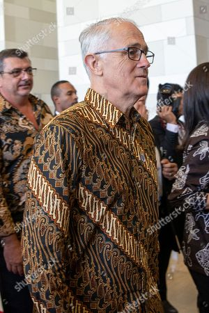 Former Australian Prime Minister Malcolm Turnbull walks after attending the opening ceremony of the fifth Our Ocean Conference in Nusadua, Bali, Indonesia, 29 October 2018. Bali is hosting the fifth Our Ocean Conference on 29 and 30 October 2018. Our Ocean Conference is focused on generating commitments and taking actions to maintain the sustainability of the oceans.