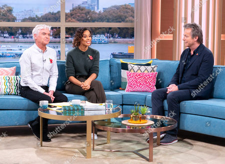 Phillip Schofield and Rochelle Humes with Julian Clary