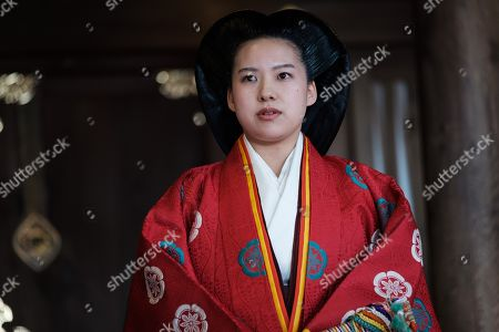 Japan Princess Ayako, the third daughter of the late Prince Takamado attends a press conference at the Meiji-Jingu shrine after their wedding