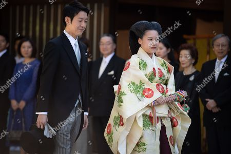 Editorial image of Princess Ayako and Kei Moriya wedding, Tokyo, Japan - 29 Oct 2018