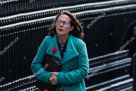 Baroness Evans of Bowes Park, Leader of the House of Lords, Lord Privy Seal, arrives for the Budget Cabinet meeting