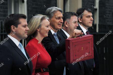 Robert Jenrick, Liz Truss, Philip Hammond, Mel Stride and John Glen deliver the budget statement